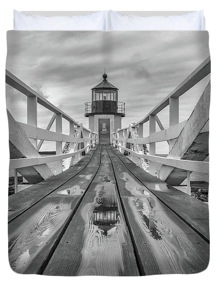 Duvet Cover featuring the photograph Keeper's Walkway At Marshall Point by Rick Berk