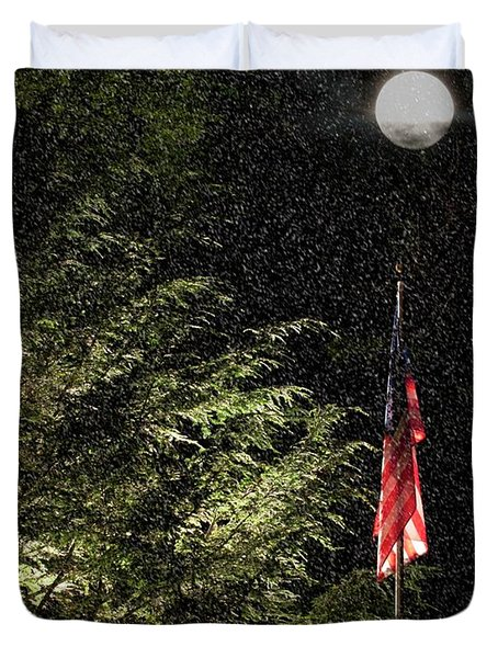 Keeping America  Illuminated.  Duvet Cover