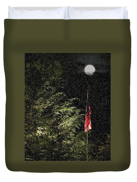 Keeping America  Illuminated.  Duvet Cover
