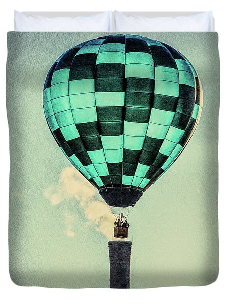 Keeping Warm As You Float Duvet Cover by Bob Orsillo