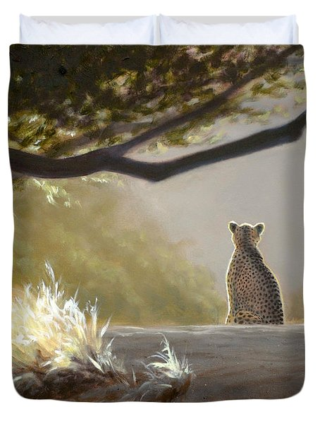 Keeping Watch - Cheetah Duvet Cover
