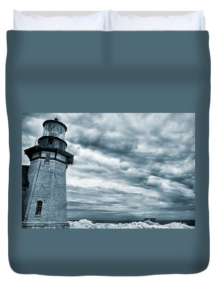 Keeping Watch- Lighthouse Blues Duvet Cover