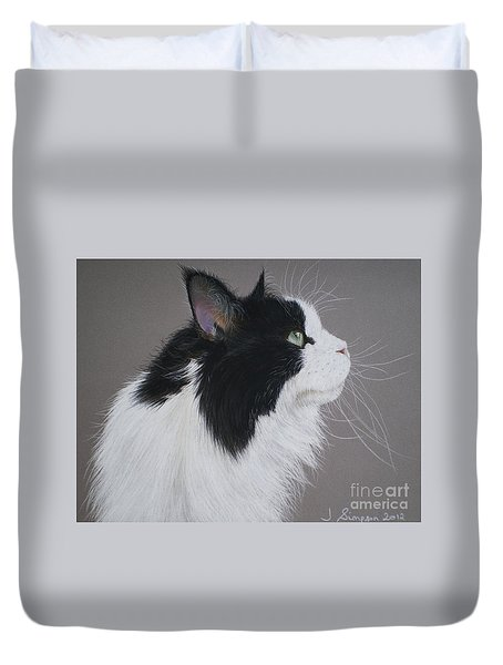 Keeps - Maine Coon Duvet Cover by Joanne Simpson
