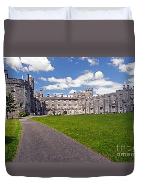Kilkenny Castle  Duvet Cover by Cindy Murphy - NightVisions