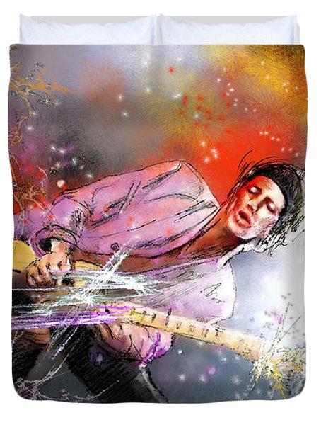 Keith Richards 02 Duvet Cover by Miki De Goodaboom