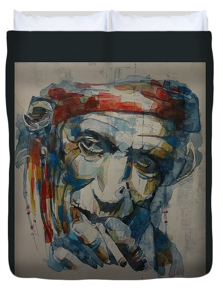 Keith Richards Art Duvet Cover