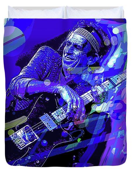 Keith Richards Blue Duvet Cover