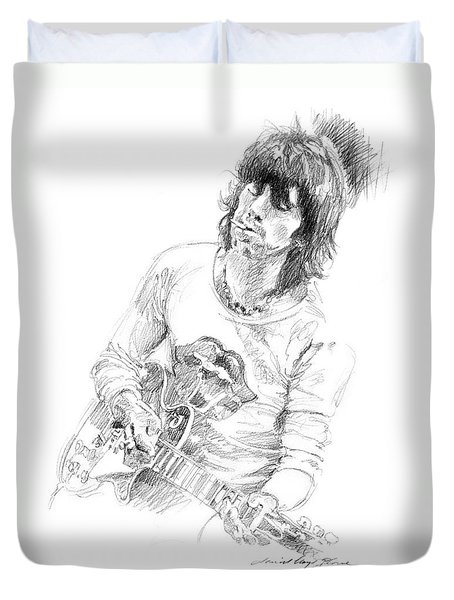 Keith Richards Exile Duvet Cover