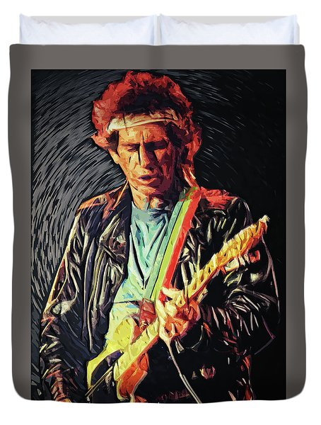 Keith Richards Duvet Cover