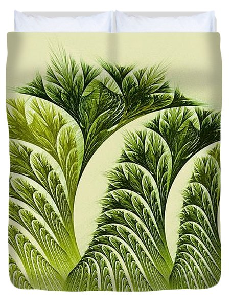 Kelp Towers Of The Fractal Sea Duvet Cover