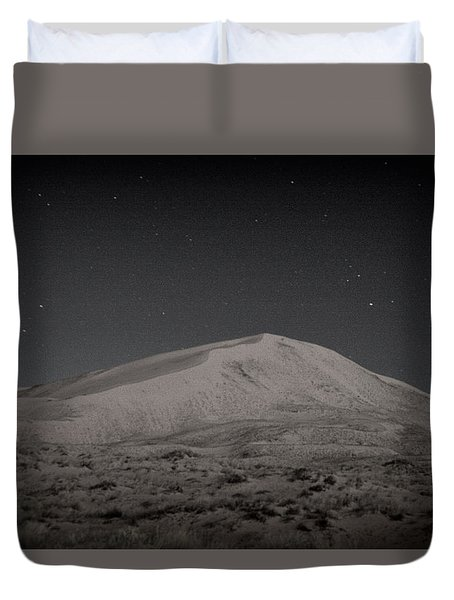 Kelso Dunes At Night Duvet Cover by Nature Macabre Photography