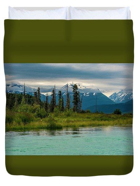 Duvet Cover featuring the photograph Kenai by Gary Lengyel