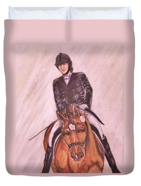 Kendle And Contesse Competing Duvet Cover
