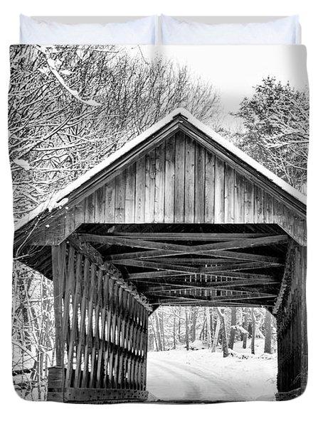 Keniston Covered Bridge  Duvet Cover