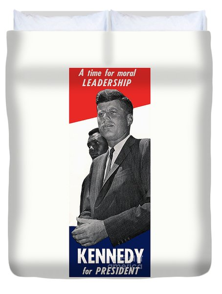 Kenndy For President Duvet Cover