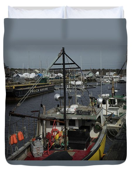 Kennebunkport Harbor In Early Winter Duvet Cover