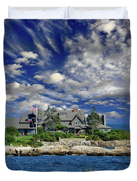 Kennebunkport, Maine - Walker's Point Duvet Cover by Russ Harris