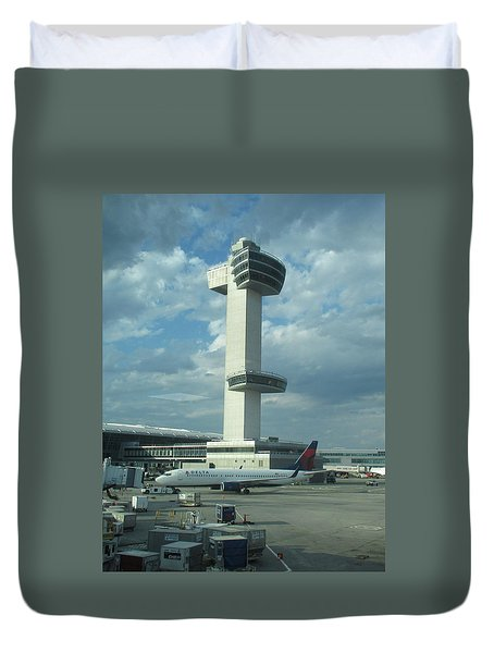 Kennedy Airport Control Tower Duvet Cover