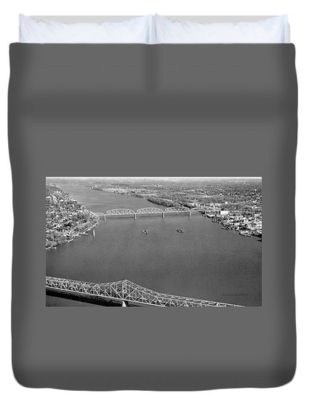 Kennedy Bridge Construction Duvet Cover