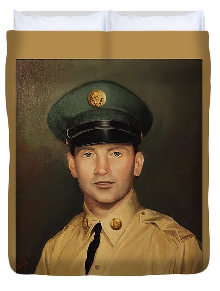 Duvet Cover featuring the painting Kenneth Beasley by Glenn Beasley