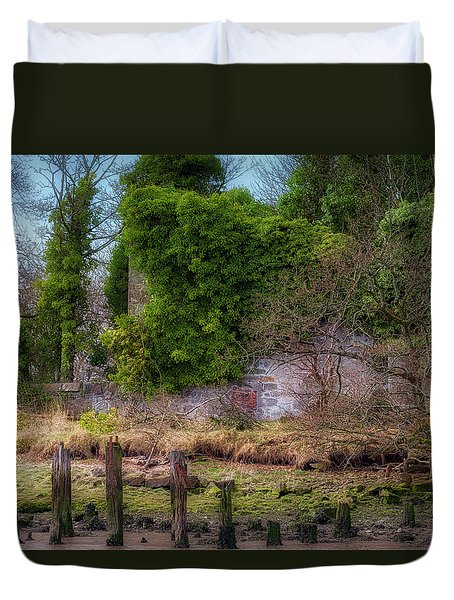 Duvet Cover featuring the photograph Kennetpans Distillery Ruins by Jeremy Lavender Photography
