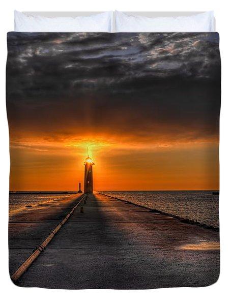 Kenosha Lighthouse Beacon Duvet Cover