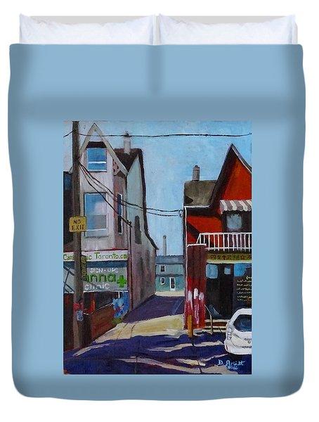 Kensington Market Laneway Duvet Cover