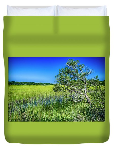Kent Mitchell Nature Trail, Bald Head Island Duvet Cover