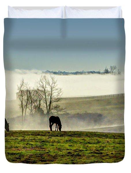 Kentucky Bluegrass Morning #1 Duvet Cover