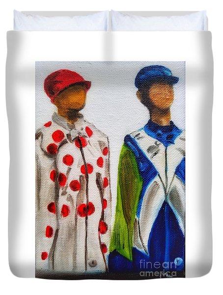 Kentucky Derby Jockey Mannequins Duvet Cover