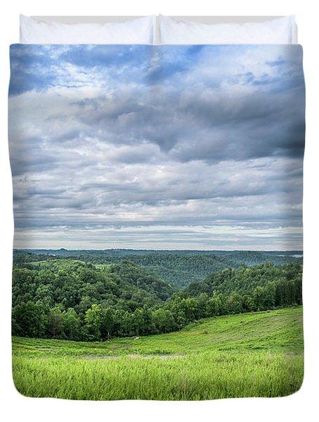 Kentucky Hills And Clouds Duvet Cover