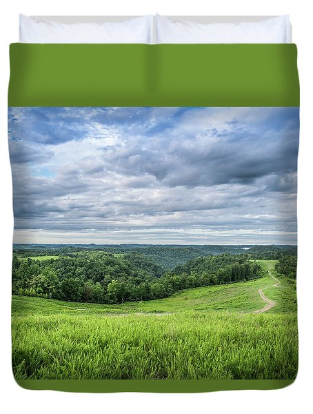 Kentucky Hills And Clouds Duvet Cover