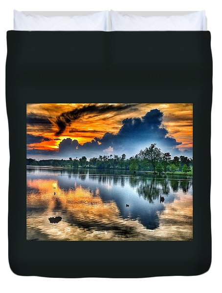 Kentucky Sunset June 2016 Duvet Cover