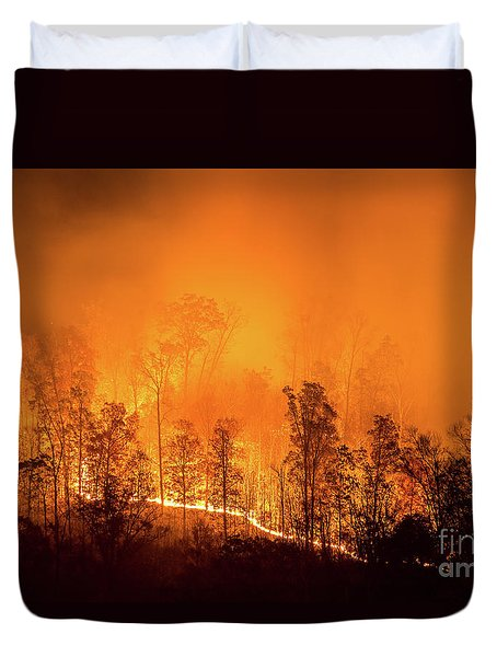 Kentucky Wildfire Duvet Cover