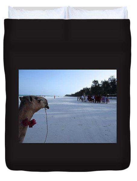 Kenya Wedding On Beach Distance Duvet Cover