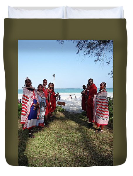 Kenya Wedding On Beach Maasai Bridal Welcome Duvet Cover