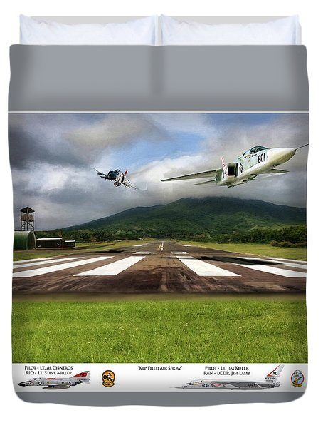 Kep Field Air Show Duvet Cover by Peter Chilelli