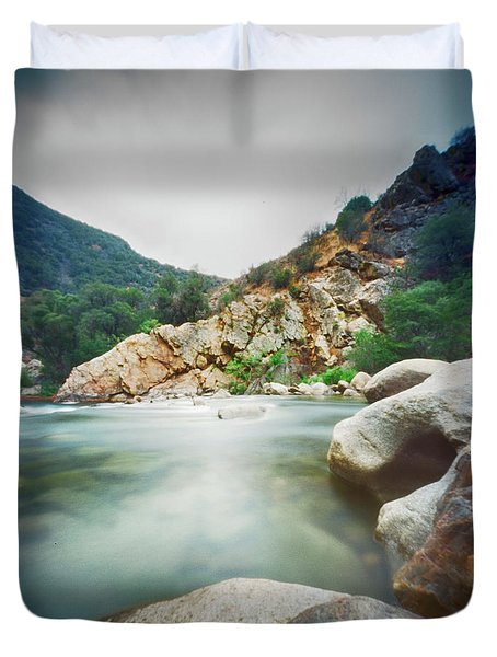 Kern River Pinhole Duvet Cover by Hugh Smith