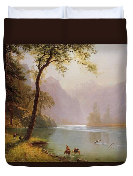 Kern S River Valley California Duvet Cover