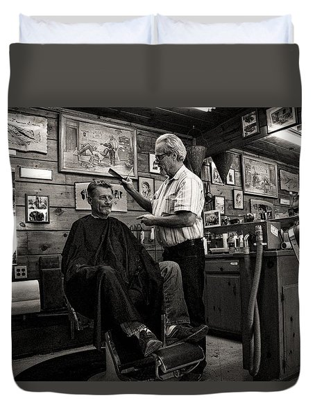 Kernville Barber Shop Duvet Cover