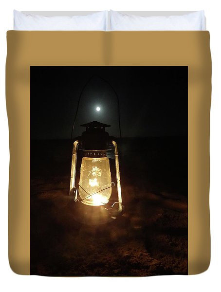 Kerosine Lantern In The Moonlight Duvet Cover
