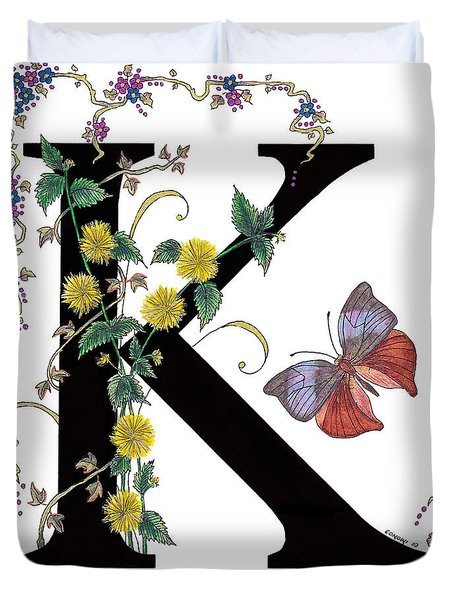 Kerria Japonica And Koh-i-noor Butterfly Duvet Cover