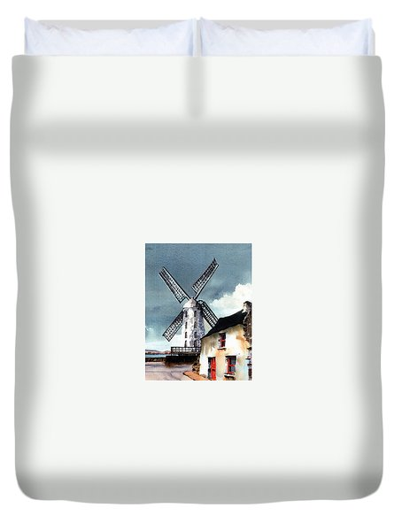 Kerry Windmill At Blennerville Duvet Cover
