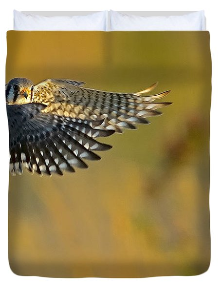Kestrel Takes Flight Duvet Cover