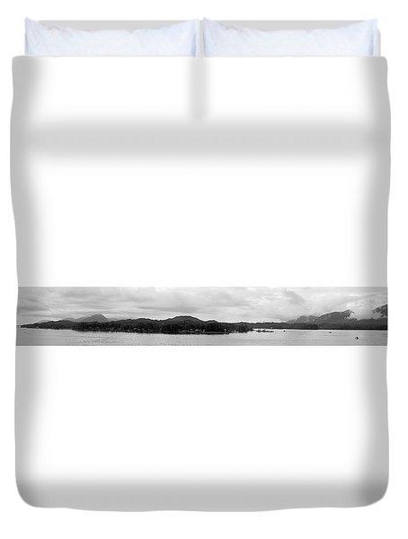 Ketchikan Harbor Duvet Cover