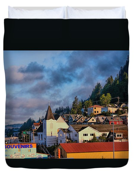 Ketchikan Morning Duvet Cover