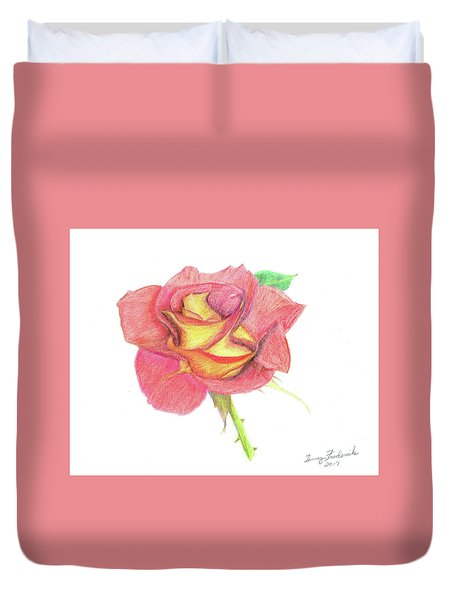 Ketchup And Mustard Rose Duvet Cover