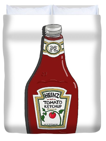 Ketchup Duvet Cover by George Pedro