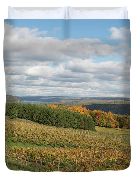 Keuka In Autumn Duvet Cover by Joshua House