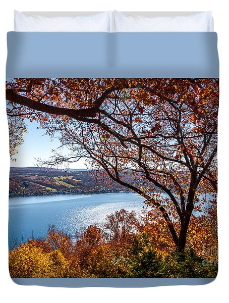 Keuka Lake Vista Duvet Cover